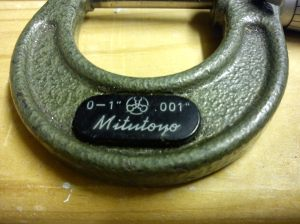 "Mitutoyo 0 - 1"" micrometer"