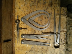 L S Starrett calipers & dividers