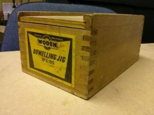 Woden X190 dowelling jig - wooden box