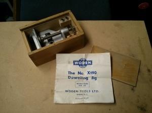Woden X190 dowelling jig - open box & instructions