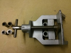 Woden X190 dowelling jig - clamp and bushes