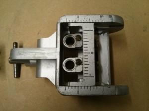 Woden X190 dowelling jig - adjustment scales