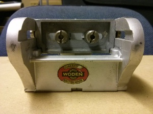 Woden X190 dowelling jig - adjustment screws & logo
