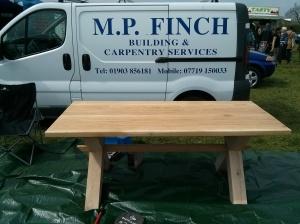 M. P. Finch - oak table