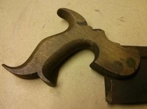 Bent backsaw - handle