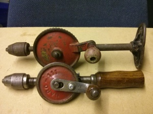 Small breast drill with other small hand drill