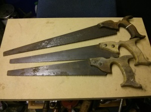 3 small handsaws